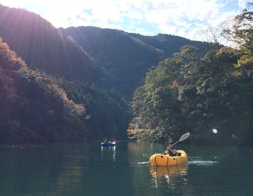 大井川でカヤック体験